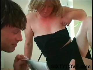 chubby, desperate cougar albino mom takes bossom
