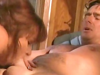 horny woman tasting and piercing her lover tough