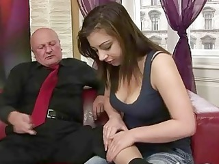 horny amateur likes fuck with grandpa