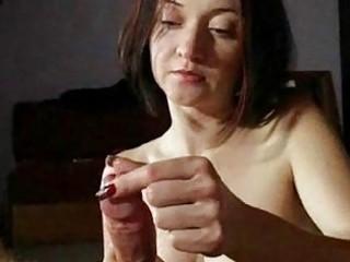 mature babe girl gives super handjobs