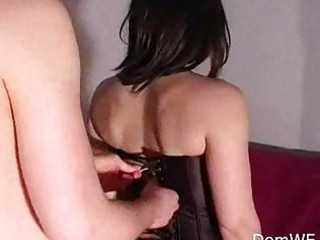 leashed man legs adore with lady
