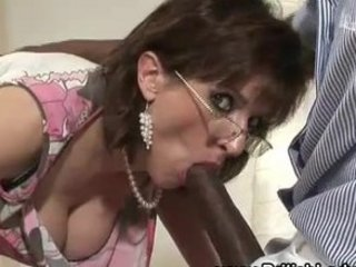 mature lady sonia licks penis