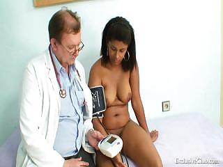manuela dark pussy gyno speculum horny exam by
