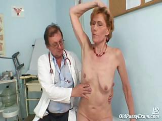 classy elderly lady mila needs gyno clinic
