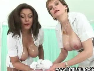 horny mature doctor obtains a white cream