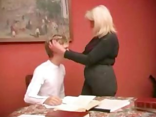 older blonde russian mature babe gives his