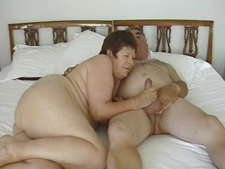 mature exhibitionist duo dildoing with tiny