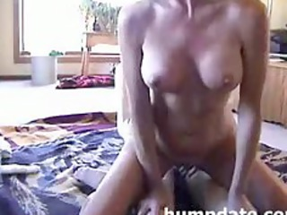 housewife playing her vagina during she acquires