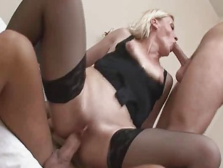 kinky mature blond in crazy groupsex!