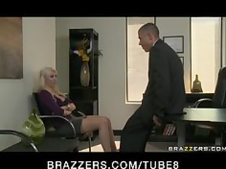 huge boob bleached chick wife into stockings bang