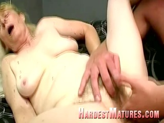 naughty granny with a hairy bitch
