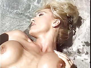 tall blond belle with shocking boobs obtains her