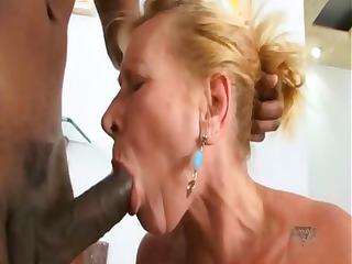 brazilian elderly eats brown penis and next gets