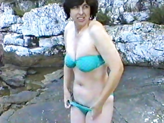delightful lady initial period on nudist camp