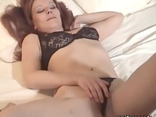 older babe gstring fresh masturbating exgf solo