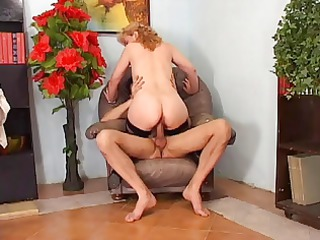 mature frenchie with big bush anal fucked by the
