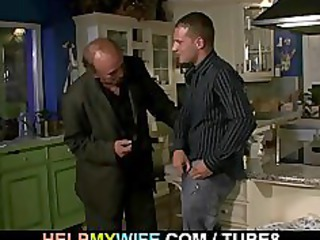 old hubby watches a teenager fucks his young