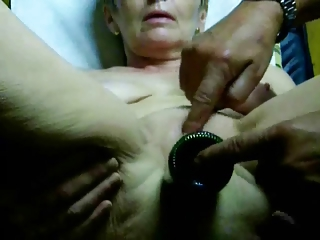 extremely extremely impressive granny orgasm