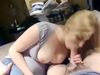 busty blonde sucks biggest knob
