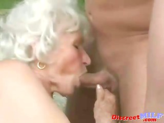 grown-up elderly obtain drilled by fresh man