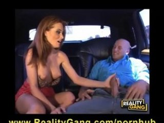 stranded big-tit red-haired milf is gang-bangs a