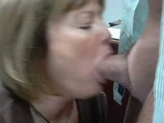 milf momor wife is giving a bj to the boss at the