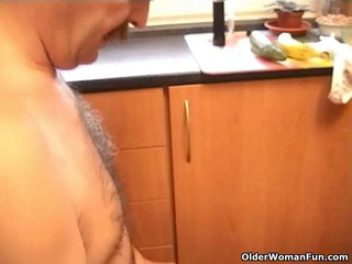 old gets fucked inside the dining room