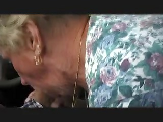 elderly shirley gives bj into car wash