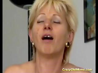 avid elderly mommy obtains banged hard engulfing