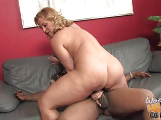 amp woman gets bbc right into the anal