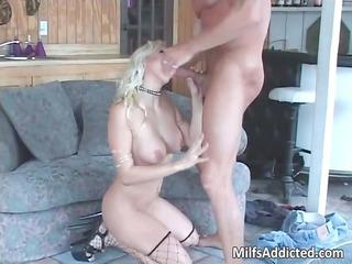 superb blonde super girl smokes big cocks