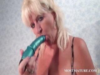 mature amp pleasures prostitute with plastic penis