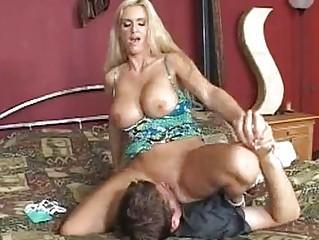 horny blonde momma rhyse richardson slides a