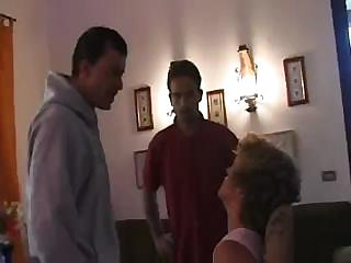 older italian bitchie agrees to fuck two horny