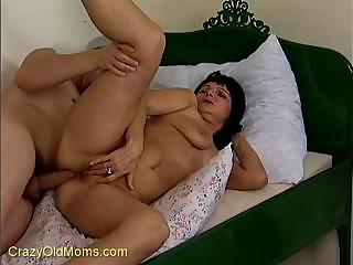 granny acquires ass fucked and then gets a load