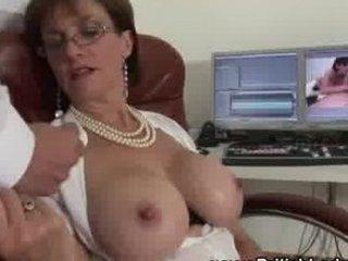 british big bossom grown-up lady handjob