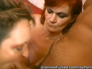 tag team cock sucking grannies