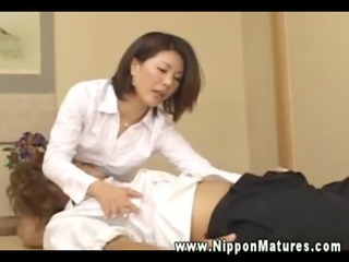 oriental milf makes out with fucker after that
