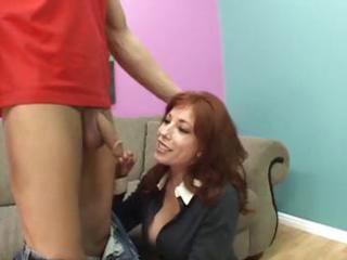 ginger slut needs money so she goes with him to