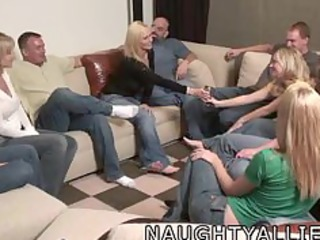 gathering game leads to a huge group fuck swinger
