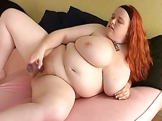 bust ginger lady fatty vibrators her chubby cutn