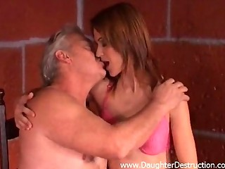 grandpa abuses amateur daughter