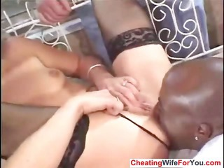 maiden drilled by bbc and got a facial
