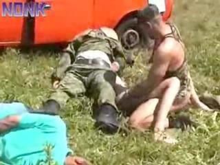 soldier patrol brutally gang-bangs these wife