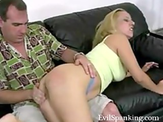 amateur spanking his blond nasty chick
