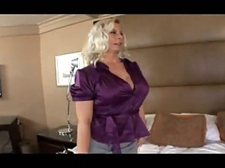 cougar woman with giant bossom gets gang-banged