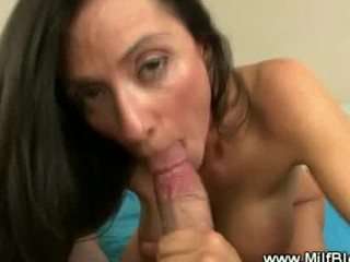 horny lady plays after that blowjob and russian