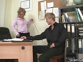 extremely impressive bureau porn with cougar amp