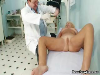naughty nurse inspects a older milf part4