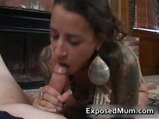 sloping bigtits tattooed milf fireplace part3